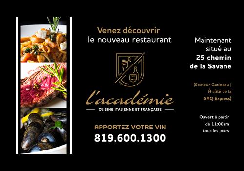Restaurant L'académie Gatineau Restaurant - Picture